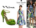 Zendaya's Kate Spade New York Carissa Sleeveless Print Dress And Nina Electra Sandals