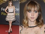 Zoe Kazan In RED Valentino - Swisscom Leopard of Honor To Leos Carax