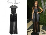Zoe Saldana's Marios Schwab Gloria Full Length Dress