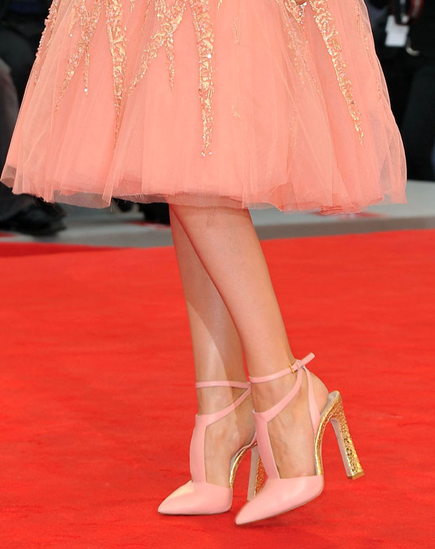 Laetitia Casta's Elie Saab Couture shoes