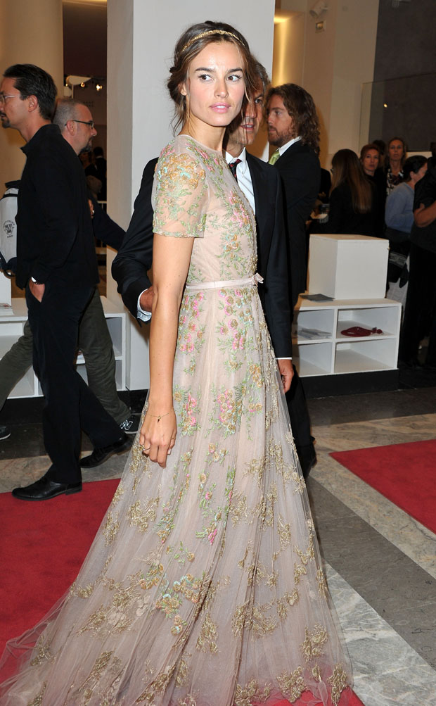 Kasia Smutniak in Valentino