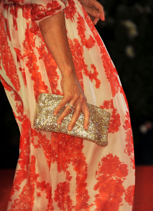 Kristin Scott Thomas' Christian Louboutin clutch
