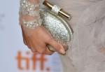 Selena Gomez' Jimmy Choo 'Calista' glitter clutch