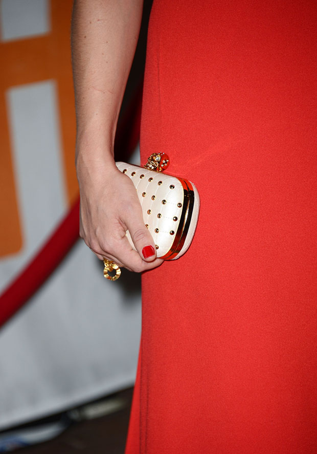 Abbie Cornish's Alexander McQueen clutch