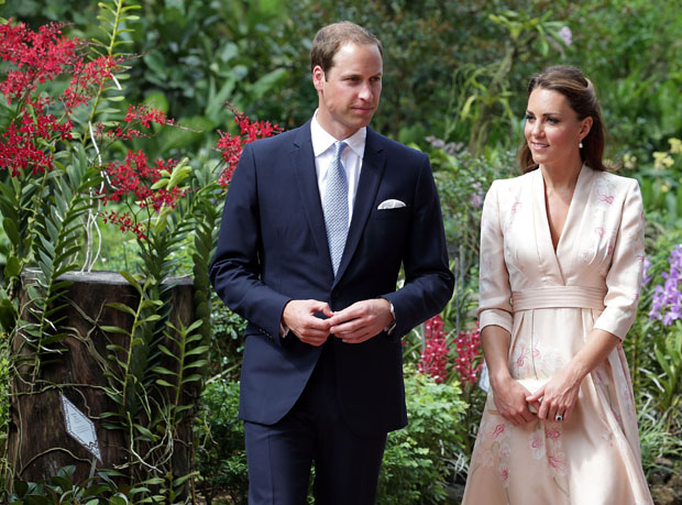 Catherine, Duchess of Cambridge in Jenny Packham