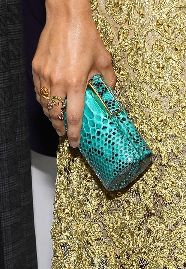 Camilla Belle's Michael Kors clutch