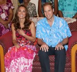 Catherine Duchess of Cambridge in Island Print dress