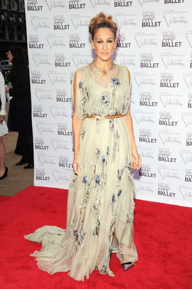 Sarah Jessica Parker in Valentino Couture with Fred Leighton jewels