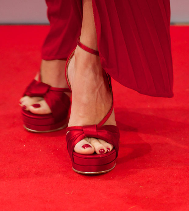Penelope Cruz' Ferragamo shoes