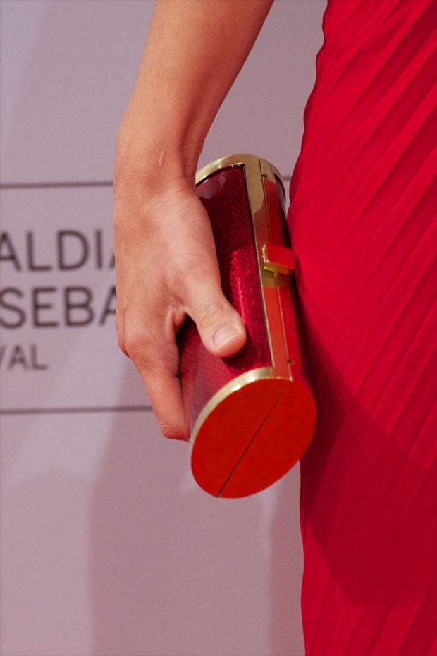 Penelope Cruz' Ferragamo minaudière