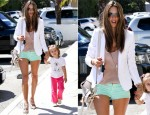 Alessandra Ambrosio In Hudson - Out In LA