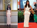 Alessandra Mastronardi In Alessandra Rich - 'To The Wonder' Venice Film Festival Premiere