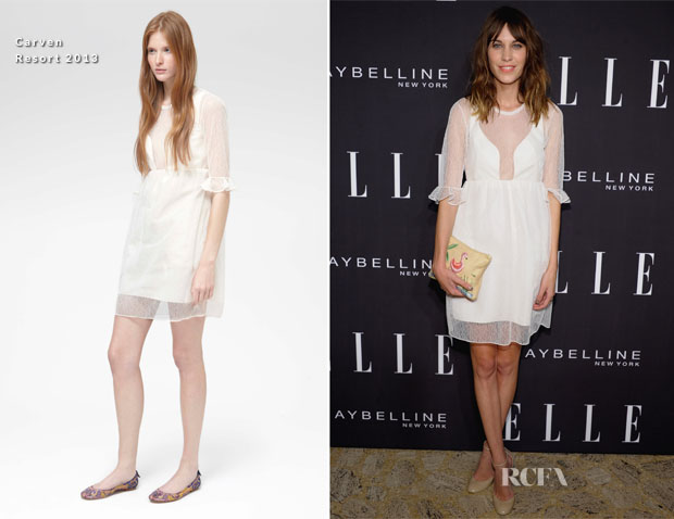 Alexa Chung In Carven - Elle Fashion Next Show