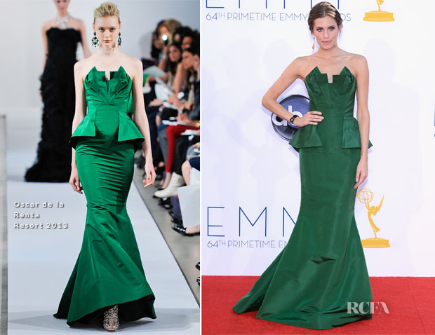 Allison Williams In Oscar de la Renta - 2012 Emmy Awards