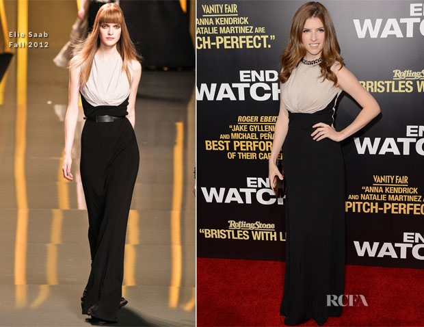 Anna Kendrick In Elie Saab - 'End of Watch' LA Premiere
