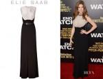 Anna Kendrick's Elie Saab Belted Silk Jersey Gown