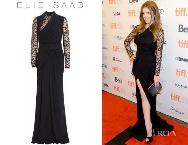Anna Kendrick's Elie Saab Lace Georgette Gown