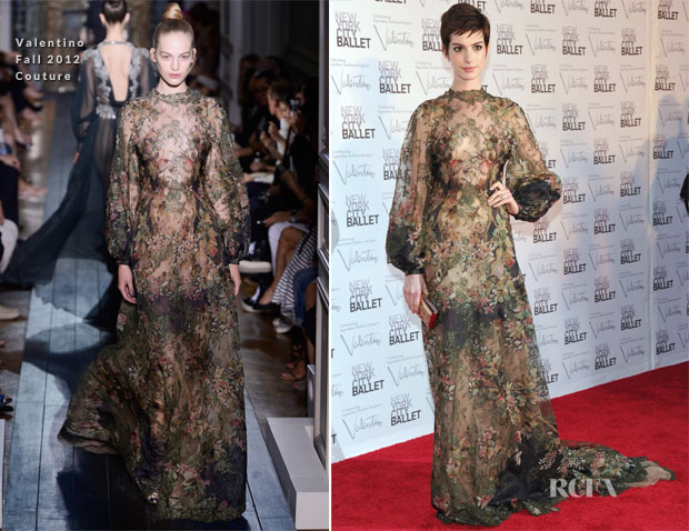 Anne Hathaway In Valentino Couture - 2012 New York City Ballet Fall Gala