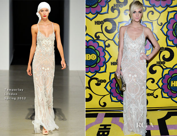 Ashlee Simpson In Temperley London - HBO's 2012 Emmy Awards Post Awards Reception