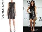 Ashley Madekwe's Derek Lam Leather Dress