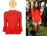 Ashley Madekwe's Tory Burch Madeline Peplum Sweater