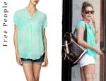 Ashley Tisdale's Free People Spellbound Button Up Shirt