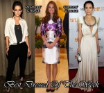 Best Dressed Of The Week - Kristen Stewart In Balenciaga, Catherine, Duchess of Cambridge In Prabal Gurung & Zhang Ziyi In Marc Bouwer