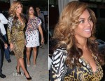 Beyonce Knowles In Roberto Cavalli - D'USSE Cognac Launch