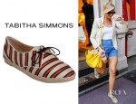 Cameron Diaz' Tabitha Simmons Dolly Cricket Stripe Shoes