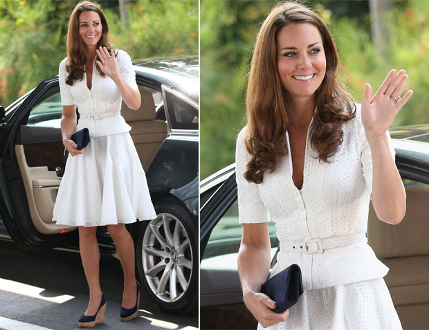 Catherine, Duchess of Cambridge In Alexander McQueen – Gardens by the Bay Visit