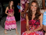 Catherine, Duchess of Cambridge In Island Print - Governor General Dinner