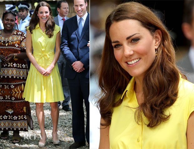 Catherine, Duchess of Cambridge In Jaeger - Guadalcanal Island