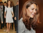 Catherine, Duchess of Cambridge In Jenny Packham - Kranji Commonwealth War Cemetery Visit