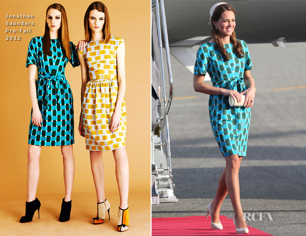 Catherine, Duchess of Cambridge In Jonathan Saunders - Honiara International Airport
