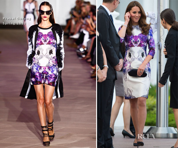 Catherine, Duchess of Cambridge In Prabal Gurung - Istana Welcoming Ceremony