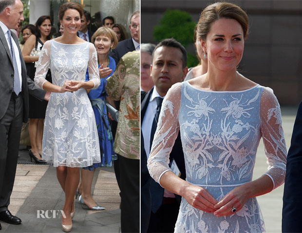 Catherine, Duchess of Cambridge In Temperley London – British High Commission Tea Party
