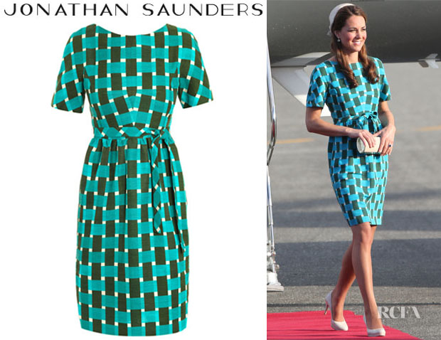 Catherine, Duchess of Cambridge's Jonathan Saunders Evelyn Printed Cotton Dress