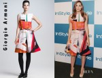 Christa B. Allen's Giorgio Armani Printed Silk Origami Dress
