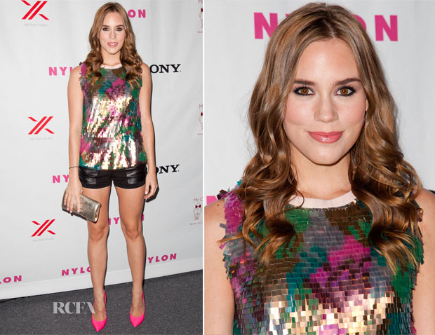 Christa B Allen In MaxMara & Rebecca Minkoff - NYLON September TV Issue Party