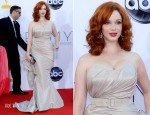 Christina Hendricks In Christian Siriano - 2012 Emmy Awards