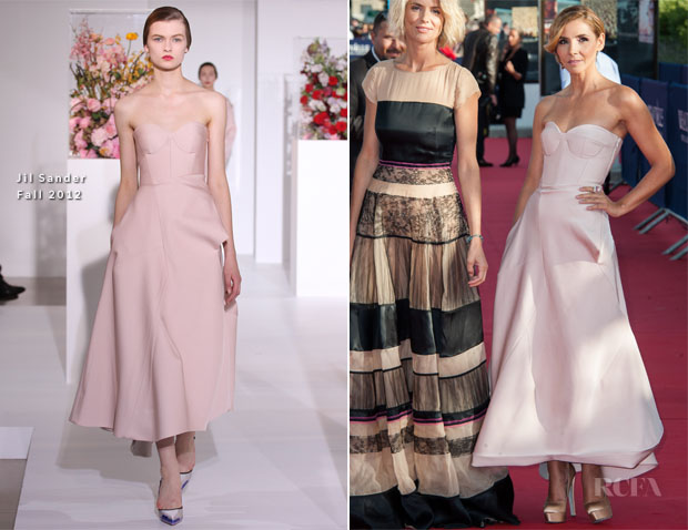 Clotilde Courau In Jil Sander - 2012 Deauville American Film Festival Opening Ceremony