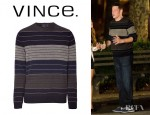 Cory Monteith's Vince Striped Crew Neck Sweater