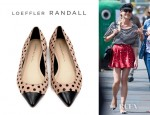Diane Kruger's Loeffler Randall Natalie Pointed Toe Flats