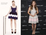 Elizabeth Olsen In Christian Dior - 'Liberal Arts' New York Screening