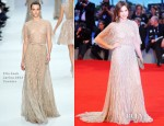 Elsa Zylberstein In Elie Saab Couture - 'Lines Of Wellington' Venice Film Festival Premiere