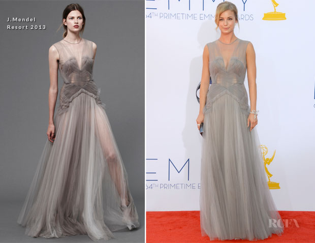 Emily VanCamp In J Mendel - 2012 Emmy Awards