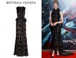 Emma Stone's Bottega Veneta Floral Print Velvet Gown