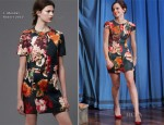 Emma Watson In J. Mendel - Late Night with Jimmy Fallon
