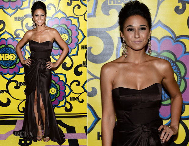 Emmanuelle Chriqui In Izmaylova - HBO's 2012 Emmy Awards Post Awards Reception