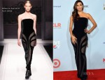 Eva Longoria In Alberta Ferretti - 2012 ALMA Awards Press Room